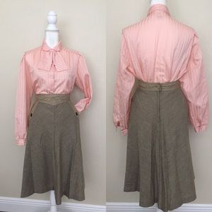1960's Wool Circle Pocket Skirt